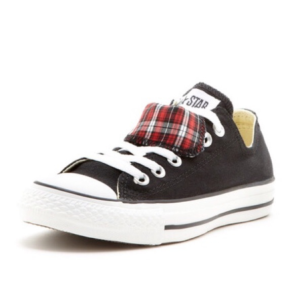 061198dd9735 Converse CTAS Double Tongue Oxford Sneakers Plaid